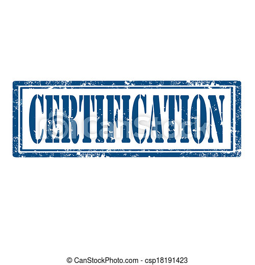 Certification Stamp Grunge Rubber With Word