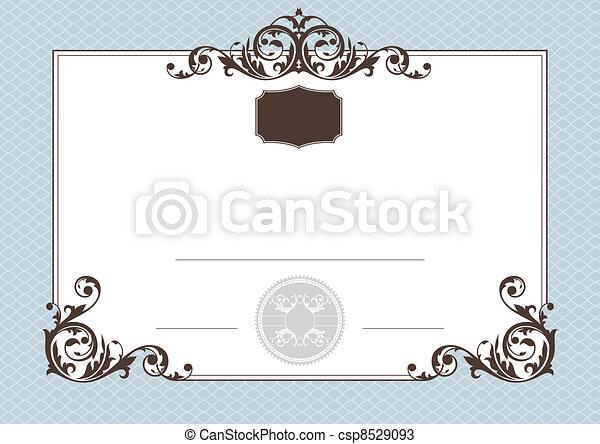 certificato, realizzazione - csp8529093