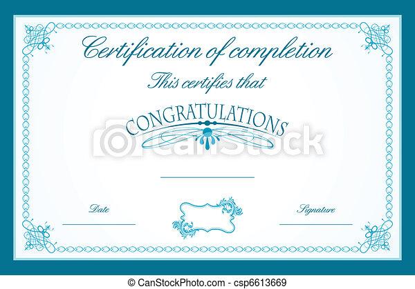 certificato, sagoma - csp6613669