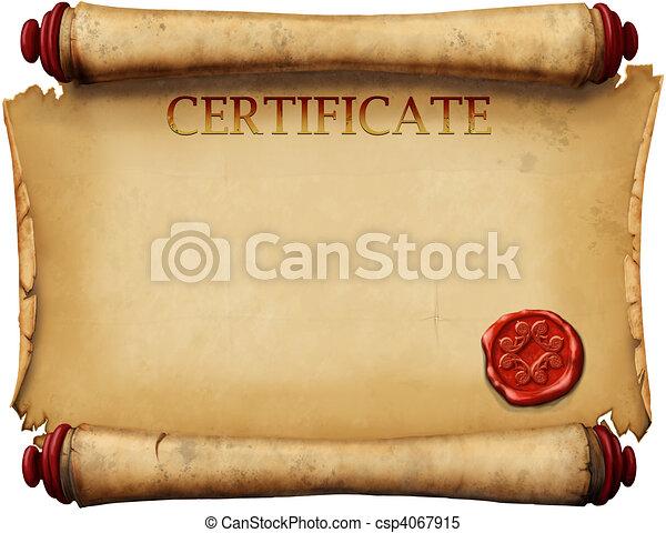 certificats, timbre, cire - csp4067915