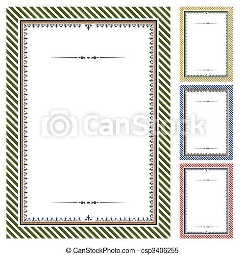 certificats, vecteur, ensemble - csp3406255