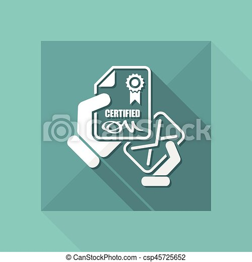 Certified document icon - csp45725652