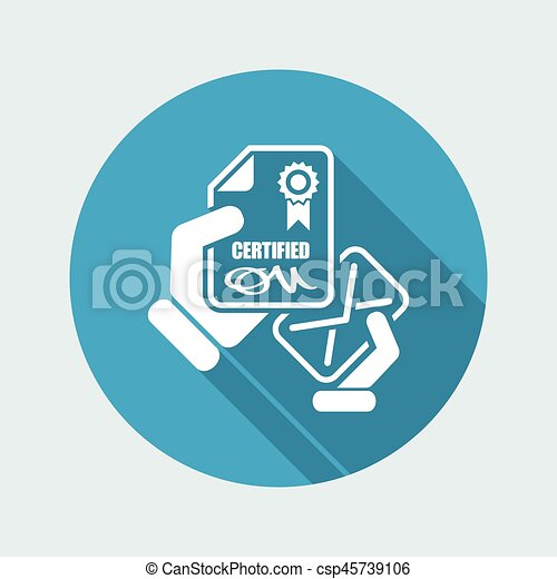 Certified document icon - csp45739106