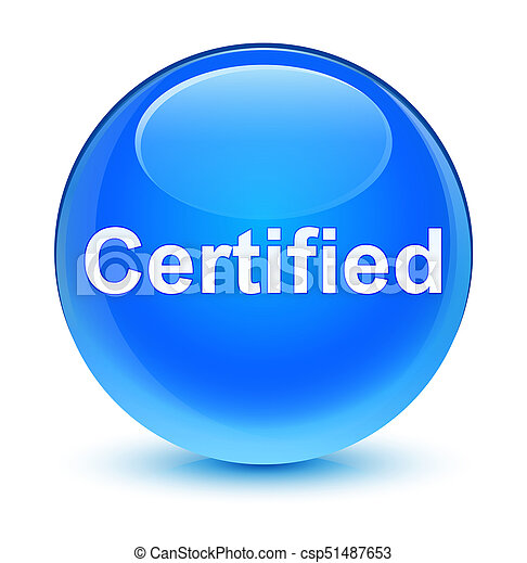 Certified glassy cyan blue round button - csp51487653