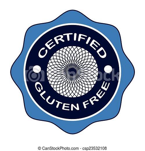 certified gluten free - csp23532108