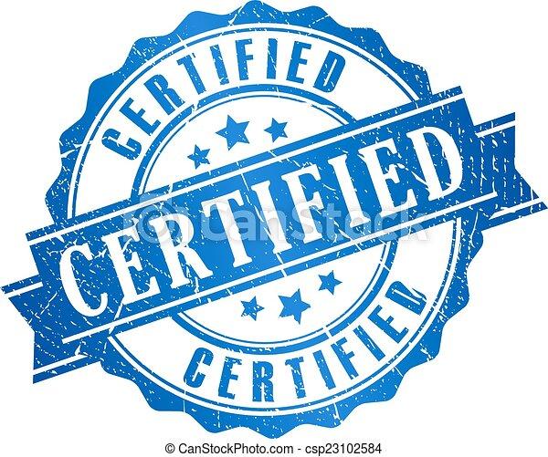 Certified grunge icon - csp23102584