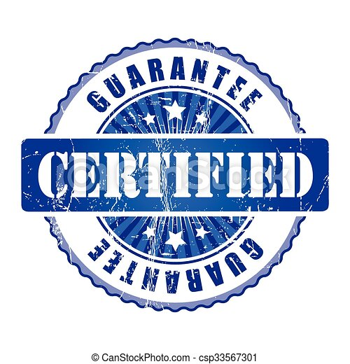 Certified   Guarantee Stamp.  - csp33567301