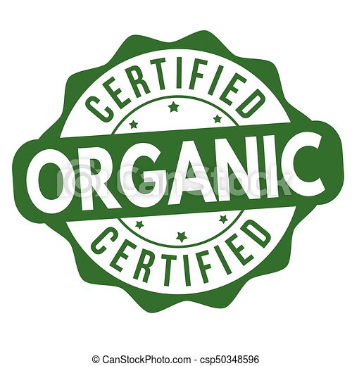 Certified organic sign or stamp - csp50348596