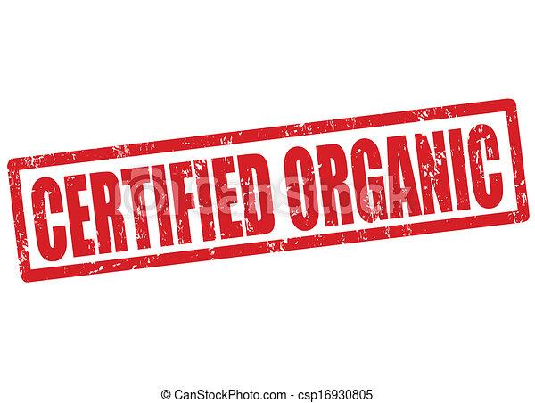 Certified organic stamp - csp16930805