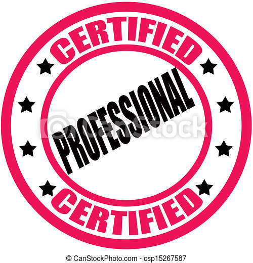 Certified Professional Stamp With Text