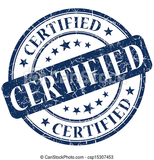 Certified Stamp blue - csp15307453