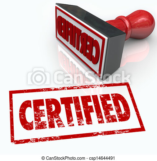 Certified Stamp Official Verification Seal of Approval - csp14644491