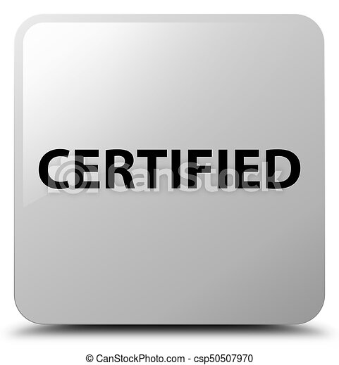 Certified white square button - csp50507970