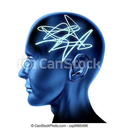 cerveau, confondu - csp9965498