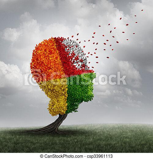 cerveau, démence, perte - csp33961113