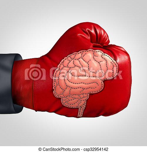 cerveau, fort, activité - csp32954142