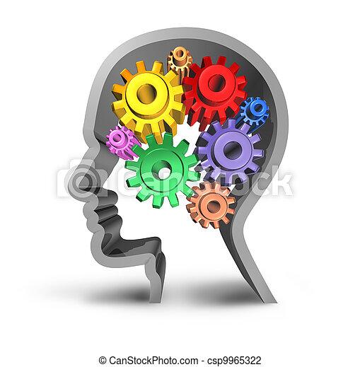 cerveau, humain, activité - csp9965322