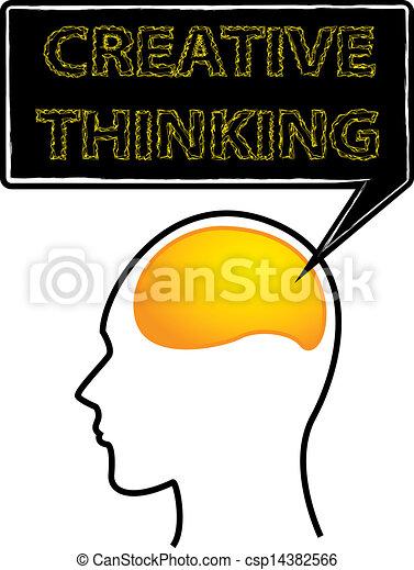cerveau pensée, créatif - csp14382566