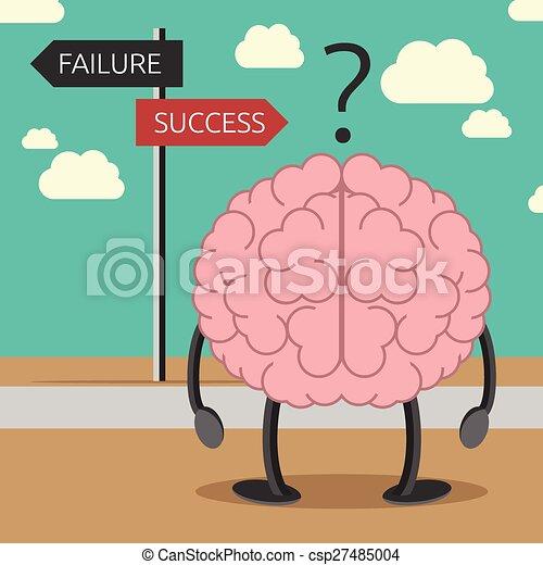 cervello, carattere, scegliere, modo - csp27485004