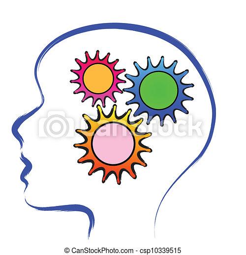 cervello, ingranaggio - csp10339515