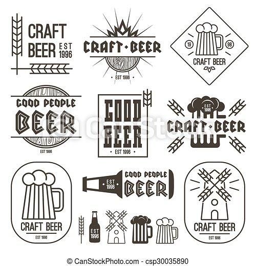 Los emblemas de cerveza artesanal - csp30035890