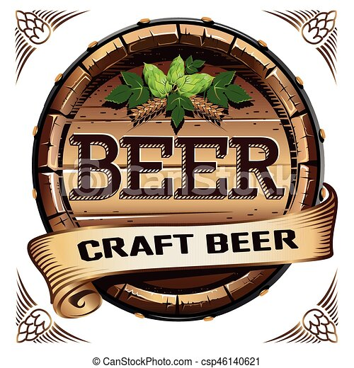 Una etiqueta de cerveza artesanal - csp46140621