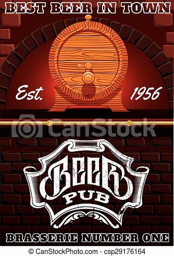 Barra y barril de cerveza - csp29176164