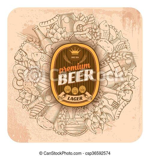 Trasfondo de cerveza - csp36592574