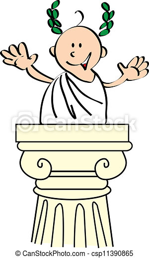 cesar do you recognize me i m julius caesar the perfect speaker rh canstockphoto com