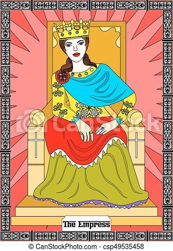 Cesarzowa Karta Tarot Empress Karta Ilustracja
