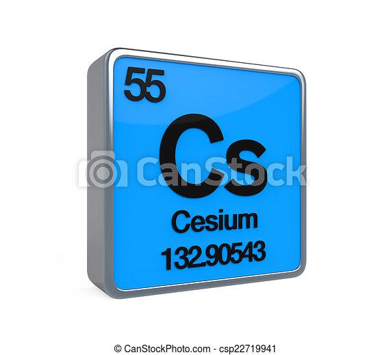 Cesium element periodic table isolated on white background 3d render cesium element periodic table csp22719941 urtaz Gallery