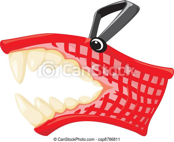 Una canasta de compras - csp8786811