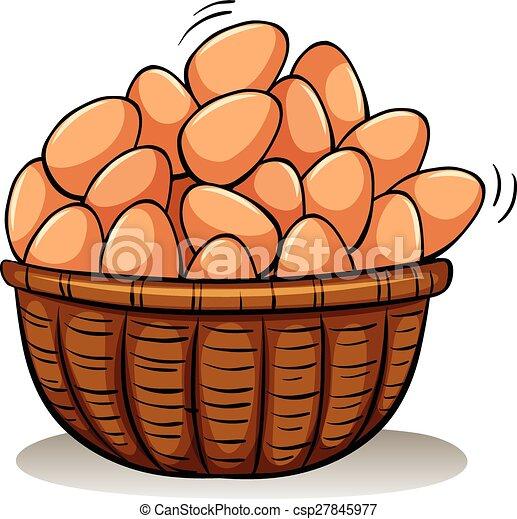 Una canasta llena de huevos - csp27845977