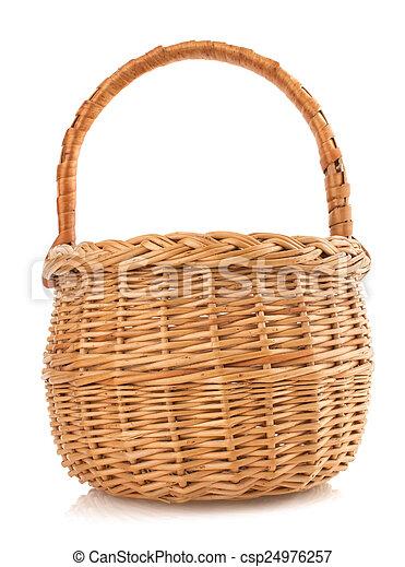 cesta, vime, fundo branco - csp24976257