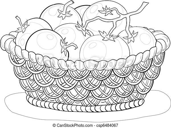 cesto, contorni, pomodori - csp6484067