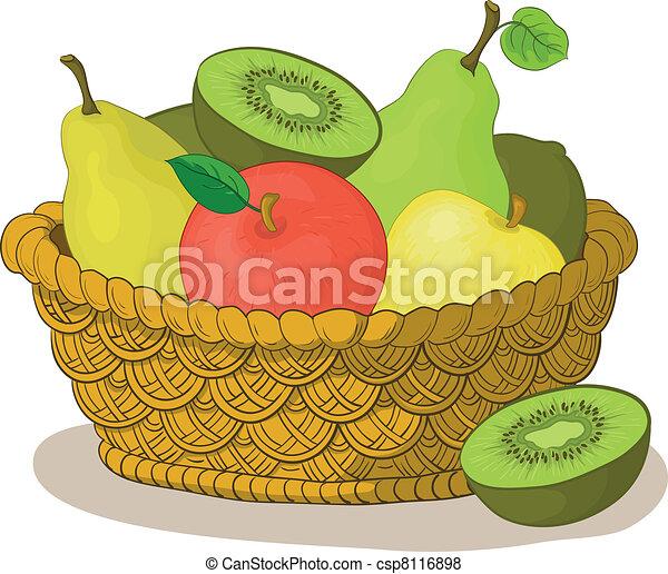 cesto, frutte - csp8116898