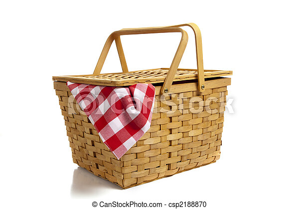 cesto, percalle, picnic - csp2188870