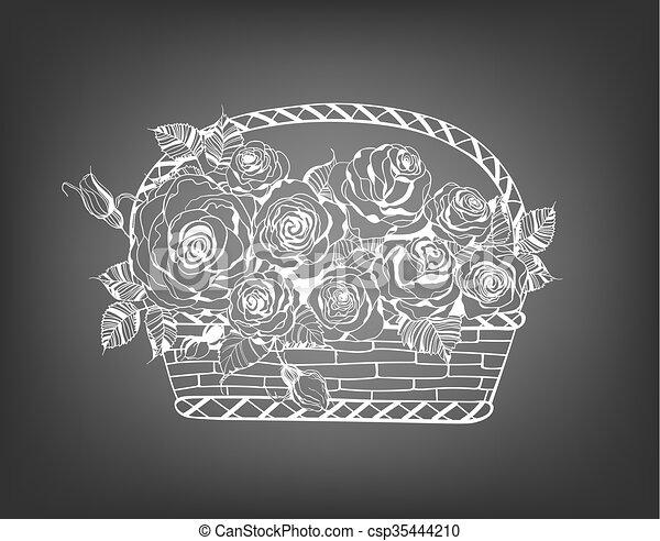 cesto, rose - csp35444210