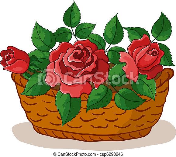 cesto, rose - csp6298246