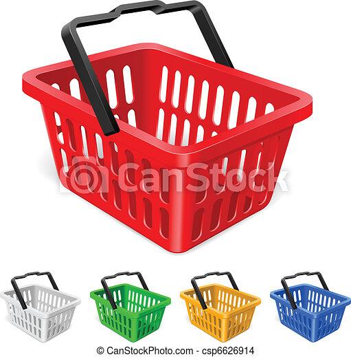 cesto, shopping, colorito - csp6626914
