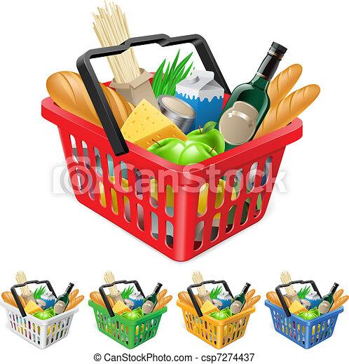 cesto, shopping, foods. - csp7274437