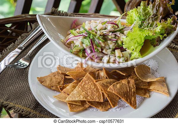 Ceviche Dish - csp10577631