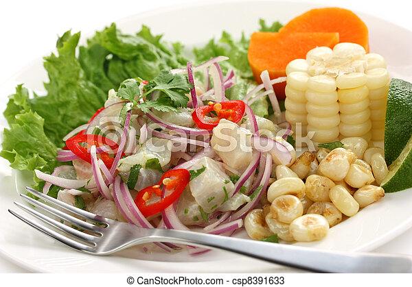 ceviche, peruvian cuisine - csp8391633