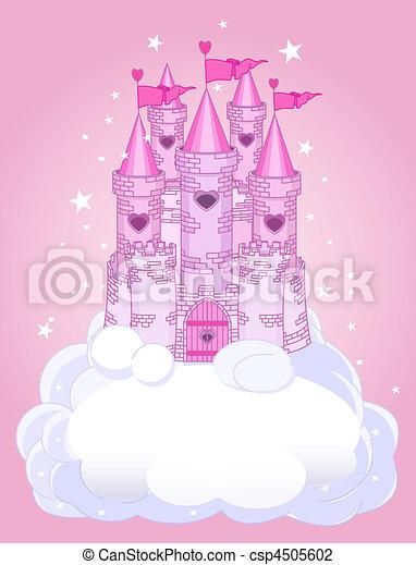 château, ciel - csp4505602