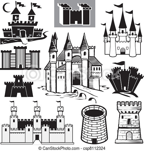 château, collection - csp8112324