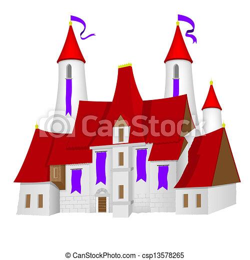 château, fée-conte - csp13578265