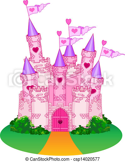 Chateau Princesse Conte Chateau Fee Illustration Princesse