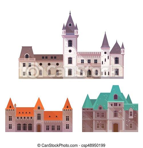 Châteaux Tours Moyen âge Tourelles