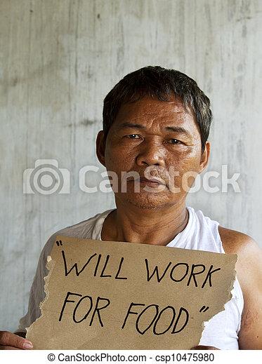 chômeur, sdf, affamé - csp10475980