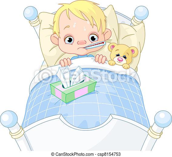 chłopiec, chory - csp8154753